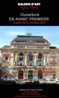 Ouverture de la Galerie SYLVIE PLATINI à LYON