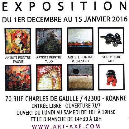 Expo  Galerie Art'Axe à Roanne